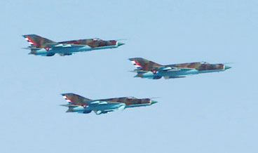 MiG-21 Fishbeds with Cuban Insignia and markings of the Fuerza Aerea Revolucionara  (Cuban Air Force)