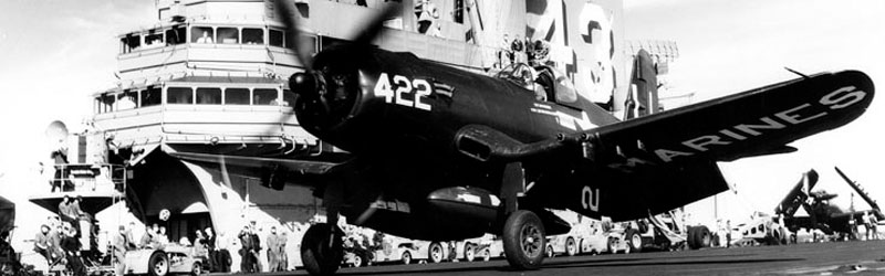 F4U-5 Corsair aboard the USS Coral Sea