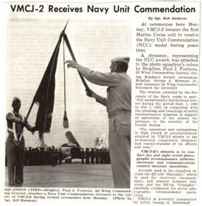VMCJ-2 Receives Navy Unit Commendation